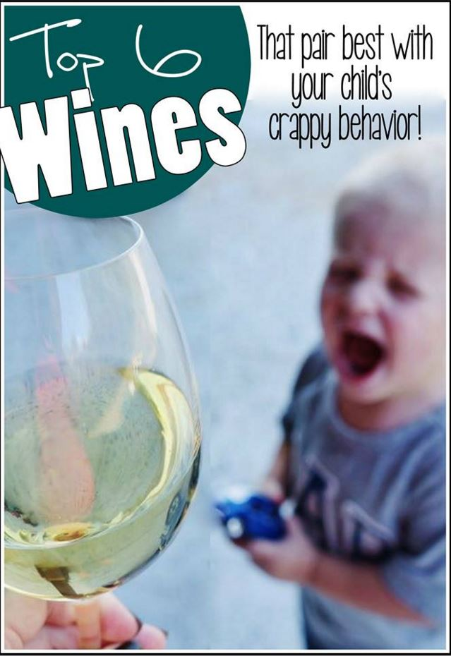 Top 6 Wines That Pair Best With Your Child's Crappy Behavior - Life as a Rambling Redhead