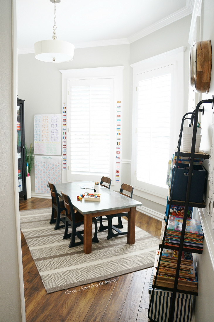 STUNNING kids school room TOUR! Natural lighting to die for! (Life as a Rambling Redhead)